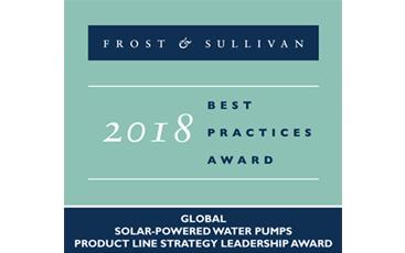 LORENTZ es nombrado líder global de línea de productos de bombas de agua con energía solar por Frost & Sullivan