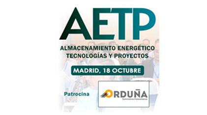 Jornada AETP2018. Almacenamiento Energético, Tecnologías y Proyectos