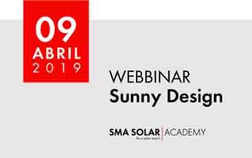 SMA dará um novo webinar: SMA Sunny Desing