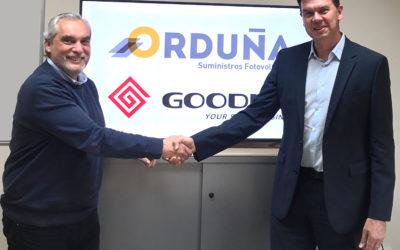 Suministros Orduña y GoodWe firman un acuerdo de distribución