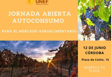 Conferência da UNEF: autoconsumo para o mercado agroalimentar