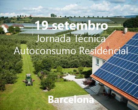 Autoconsumo Residencial. jornada 19 septiembre Barcelona.