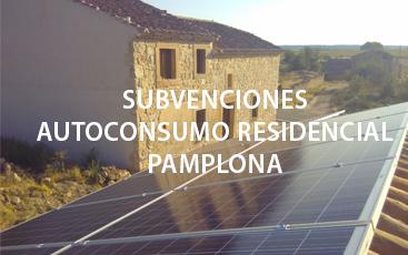Convocatoria Subvenciones Autoconsumo Residencial en Pamplona