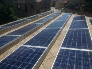 Instalación fotovoltaica Abasol. Suministros Orduña