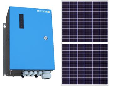 Solución más rentable para bombeos de 5,5 y 7,5 CV: Nuevo controlador Lorentz PSK2-5 / 7 y módulo  Canadian Solar Hiku