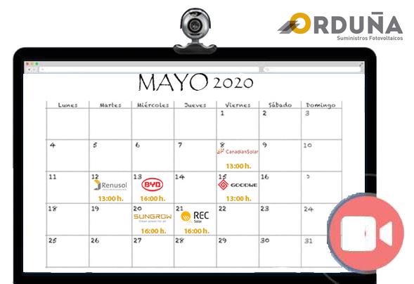 Protegido: Calendário dos webinarios Suministros Orduña em Maio