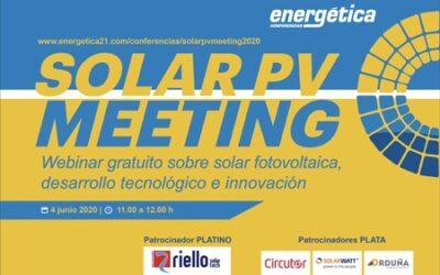 Suministros Orduña en el Webinar Solar PV Meeting de Energética XXI