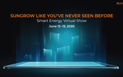 Primeira exposição digital do fabricante Sungrow 15 – 19 Junho