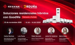 Webinar GoodWe: Soluções residenciais híbridas com GoodWe. @ Suministros Orduña