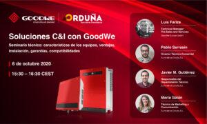 Webinar GoodWe: Soluciones C&I con GoodWe. Series SMT y MT. @ Suministros Orduña