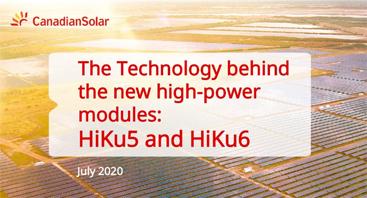 Nuevas Gamas HiKu/BiHiKu Series 5 y 6 de Canadian Solar