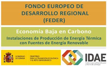 Líneas de ayudas a la inversión en renovables. Fondos FEDER