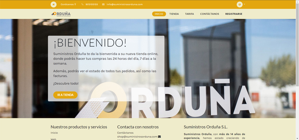 Suministros Orduña abre a sua loja online em Portugal!