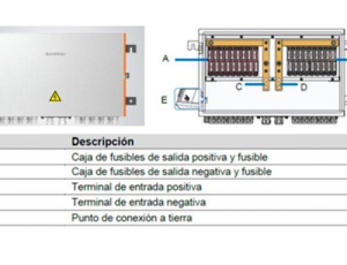 FV PVS-18RM, caja de conexiones inversa de Sungrow