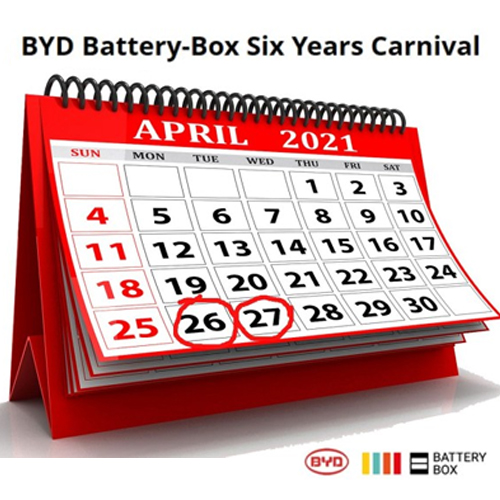 six years carnival BYD