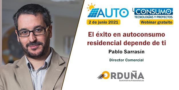 Pablo sarrasín en energética xxi. Jornada autoconsumo 2021