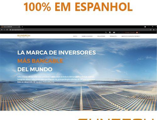 Sungrow lança site em espanhol