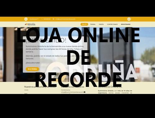 Uma loja online de recorde