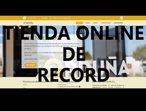 Una tienda online de record